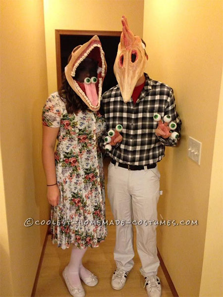 deceased couple from beetlejuice costumes - Quick Scary Halloween Costumes