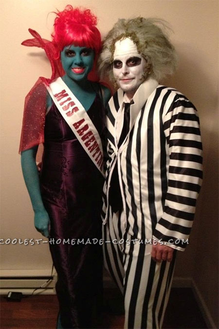 Awesome Couple Costume u2013 Miss Argentina u0026 Beetlejuice  sc 1 st  Girlshue & Scary Halloween Costume Ideas For Couples 2013/ 2014 | Girlshue