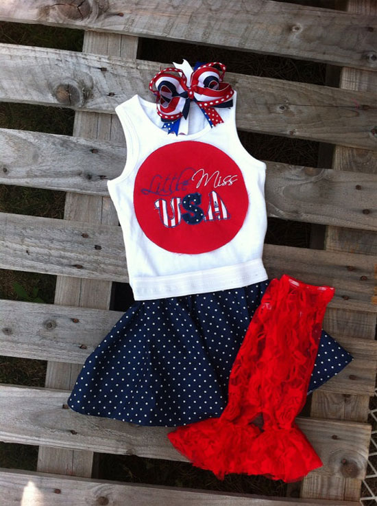 3d9b8a8b9b81 Girls Fourth of July Outfit Tank Shirt Onesie Skirt Bow Leggings