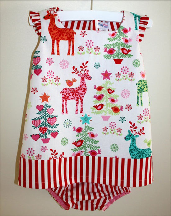 MaisyMoo Designs 'Sweet Christmas' – Baby To Toddler Dress & Bots