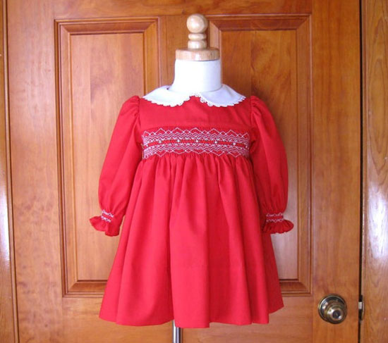 Long sleeve christmas dress toddler