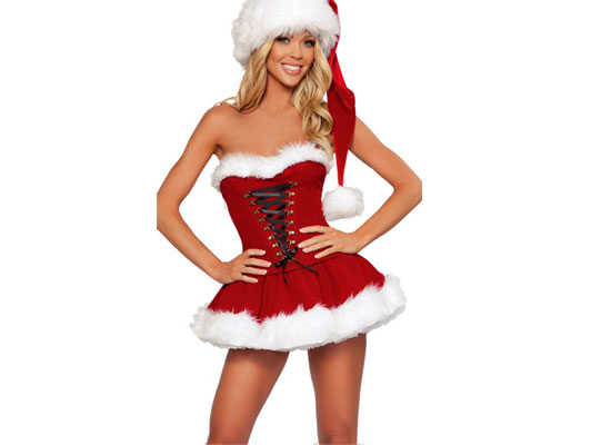 Lace Up Christmas Costume - 20 Beautiful Yet Cheap Christmas Party Dresses, Costumes & Outfits