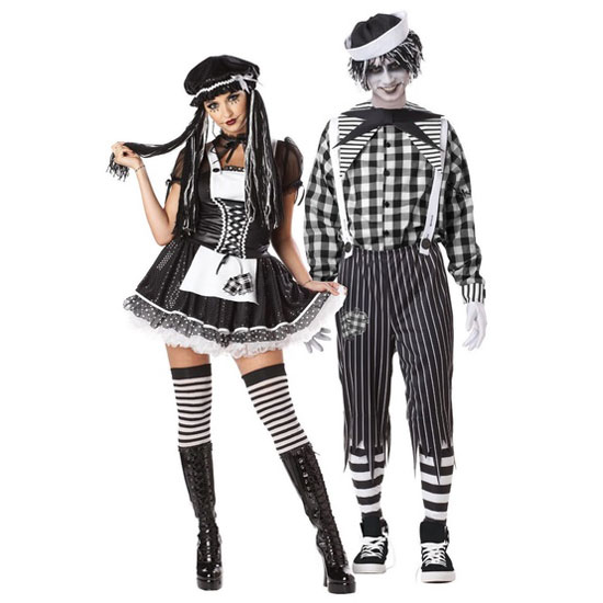 tragedy andy halloween costumes for couples - Couple Halloween Costumes Scary