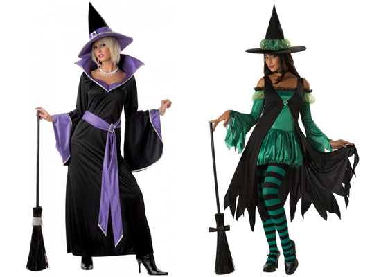 The Glamour u0026 Emerald Witch Costumes For Halloween  sc 1 st  Girlshue & 20 Best Unique Creative Yet Scary Halloween Costume Ideas 2012 For ...