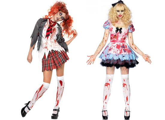 highschool horror school girl adult costumes for halloween