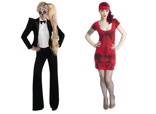 Tuxedo u0026 Bones Dresses  sc 1 st  Girlshue & 20 Best Unique Creative Yet Scary Halloween Costume Ideas 2012 For ...
