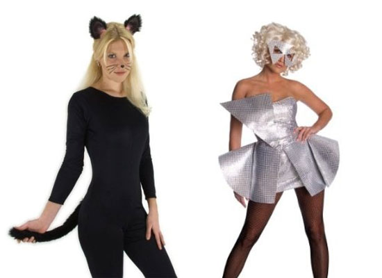 Cat Ears u0026 Tails u0026 Lady Gaga Sequin Dresses For Halloween  sc 1 st  Girlshue & 20 Best Unique Creative Yet Scary Halloween Costume Ideas 2012 For ...
