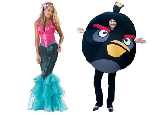 mermaid fitted gown angry birds black costumes for halloween