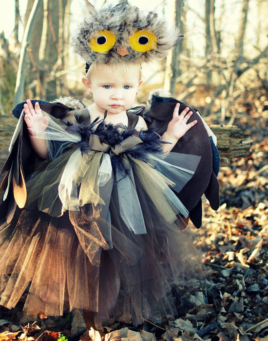 Owl Tutu Dress Costume Set u2013 Great for Halloween  sc 1 st  Girlshue & 20 Best Creative Yet Cool Halloween Costume Ideas 2012 For Babies ...