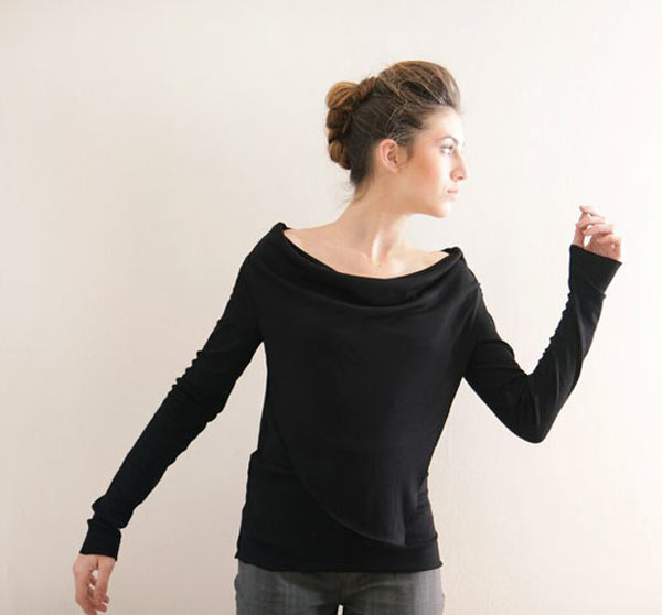 0ad22c6676ac Simple Yet Stylish Black Tops For Girls From Etsy