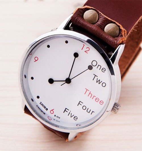 men leather watch - Christmas Ideas For Boyfriend 2014