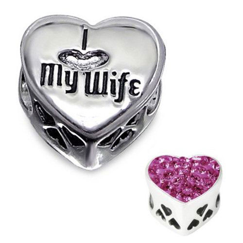 I LOVE MY WIFE Charm Bead