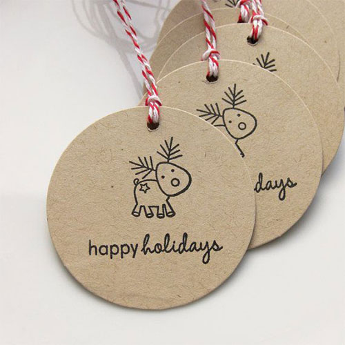 holiday gift tags reindeer - Unique Christmas Gifts 2014