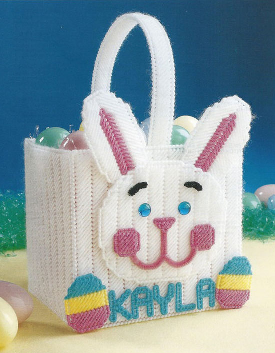 15 amazing easter bunny gifts eggs basket ideas for kids 2013 bunny basket plastic canvas pattern negle Images