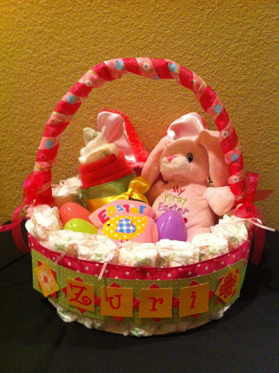 15 best easter bunny gift basket ideas 2013 girlshue babys first easter basket negle Image collections