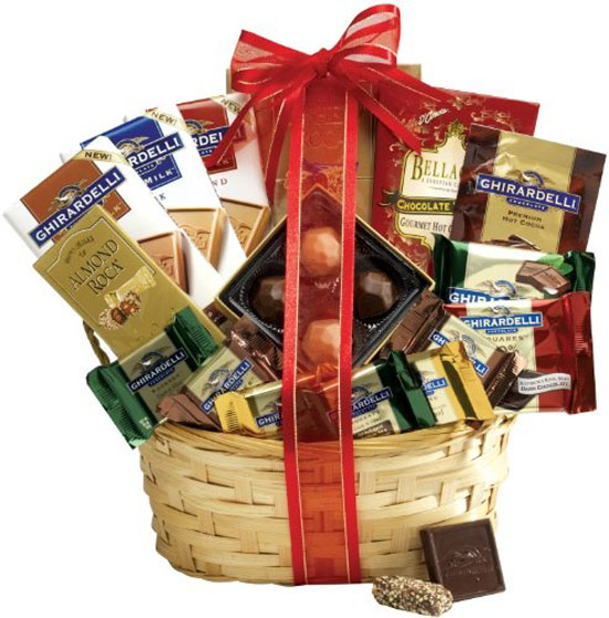 chocolate gift basket supreme a gourmet gift basket idea - Valentine Day Delivery Ideas For Him