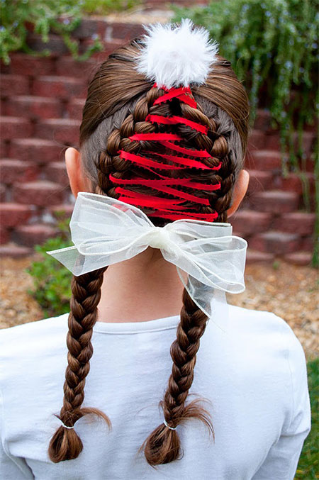 Santa Hat Hairstyle - Cute Christmas Hairstyle Ideas For Kids & Girls 2013/ 2014 X Mas