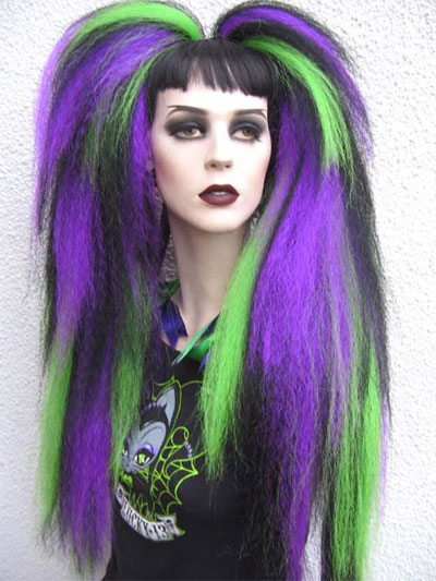 Unique Yet Scary Hairstyles For Halloween For Girls