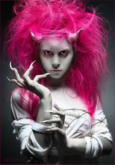 Crazy Yet Scary Halloween Hair Ideas For Girls Amp Women