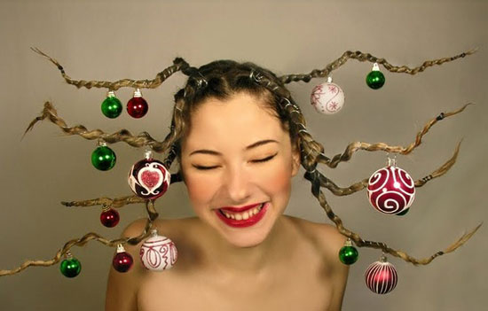 Groovy Cute Yet Crazy Christmas Tree Amp Party Hairstyles Amp Ideas 2012 For Short Hairstyles For Black Women Fulllsitofus