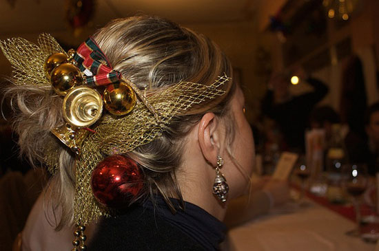 Fantastic Cute Yet Crazy Christmas Tree Amp Party Hairstyles Amp Ideas 2012 For Short Hairstyles Gunalazisus