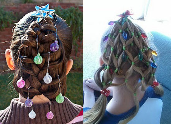 Wondrous Cute Yet Crazy Christmas Tree Amp Party Hairstyles Amp Ideas 2012 For Short Hairstyles For Black Women Fulllsitofus