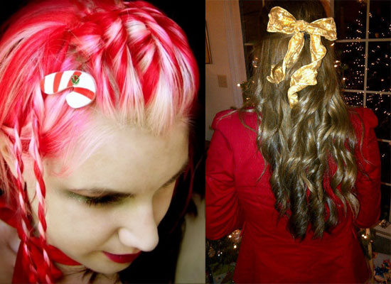 Super Cute Yet Crazy Christmas Tree Amp Party Hairstyles Amp Ideas 2012 For Short Hairstyles For Black Women Fulllsitofus