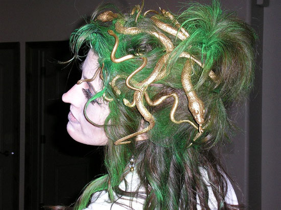 Incredible 15 Easy Creative Yet Scary Halloween Hairstyles 2012 Ideas Hairstyle Inspiration Daily Dogsangcom
