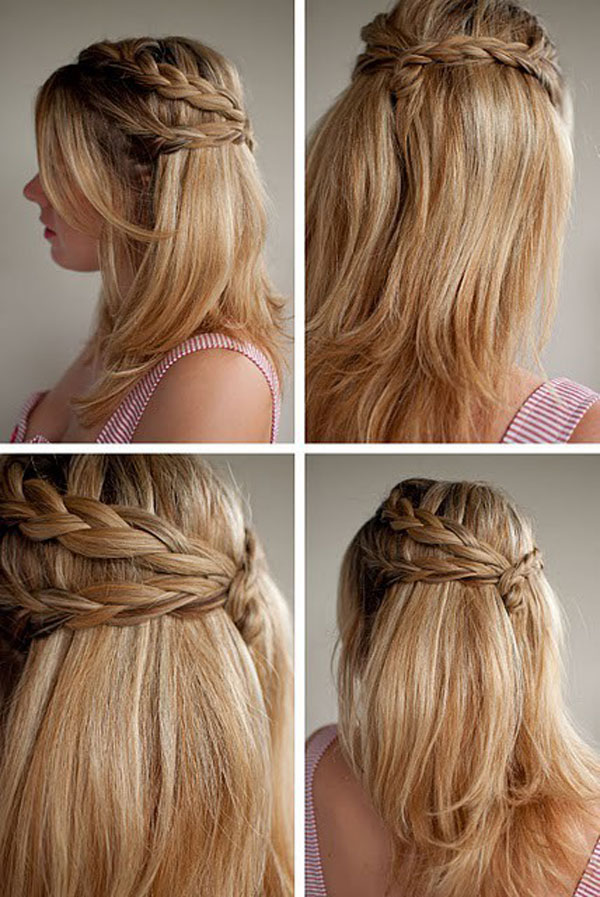 Pleasant Simple French Braid Hairstyles Borbotta Com Hairstyles For Men Maxibearus