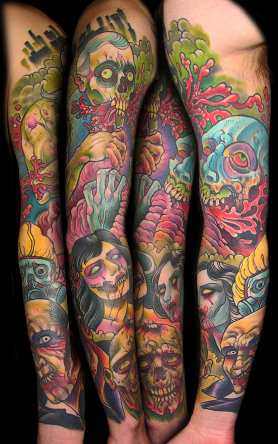 15 Best Unique amp Scary Halloween Tattoo Designs Images