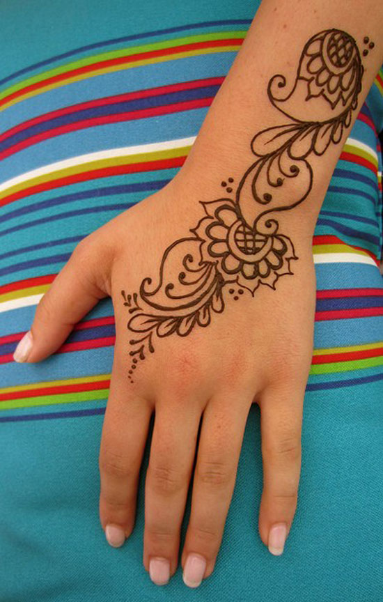 30 Very Simple Easy Best Mehndi Patterns For Hands Feet 2012