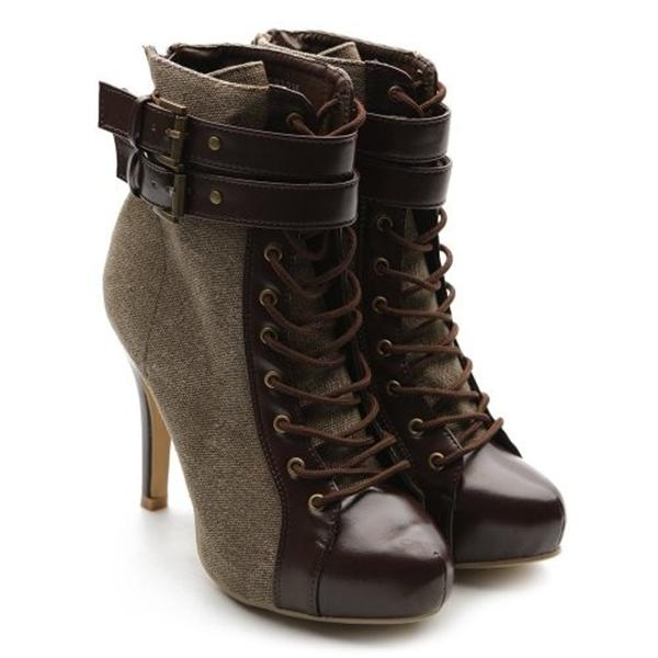 stiletto ankle boots lace up high heels for girlshue