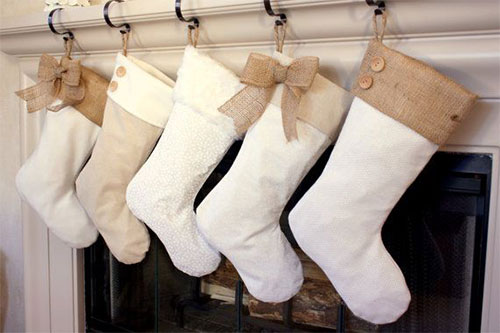 christmas stockings with burlap accents - Elegant Christmas Stockings