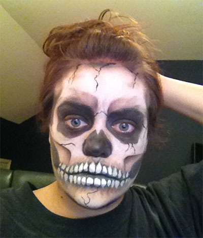 halloween face painting - Scary Face Paint Ideas For Halloween