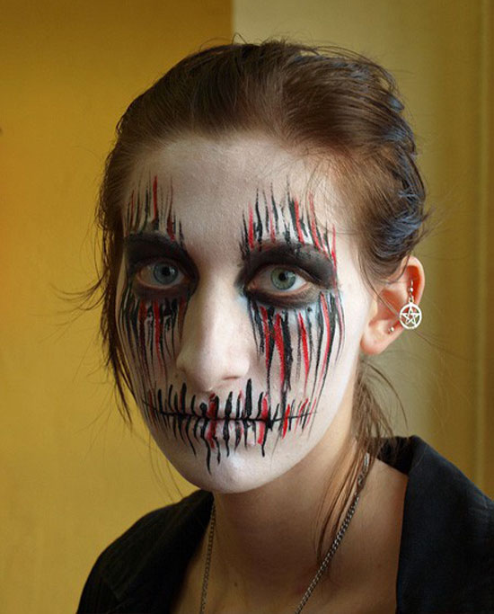 beautifully scary halloween face painting - Scary Faces For Halloween With Makeup
