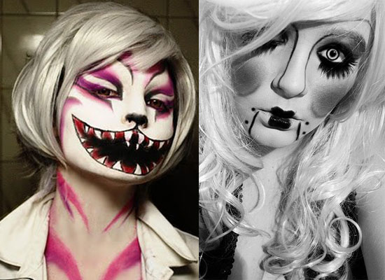 25 Best, Crazy & Scary Halloween Make Up Looks & Ideas 2012 For ...