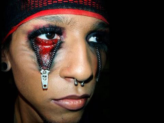 freaky halloween make up idea