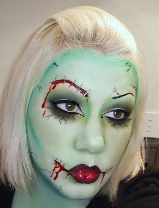 zombie make up - Scary Faces For Halloween With Makeup