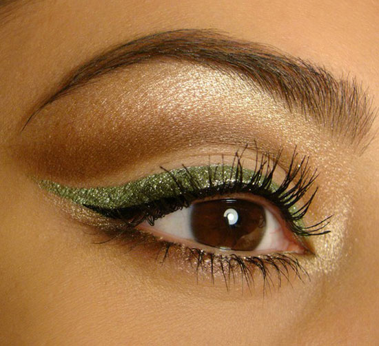 25 Best Green Eyeliner Style Ideas Looks Amp Designs