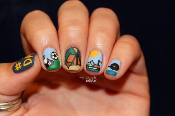 Father's Day Nail Art Ideas 2016 | Girlshue | 564 x 375 jpeg 22kB