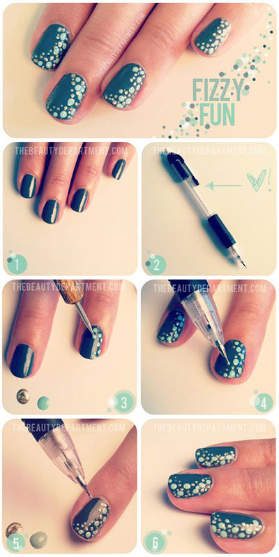 easy christmas nails step by step