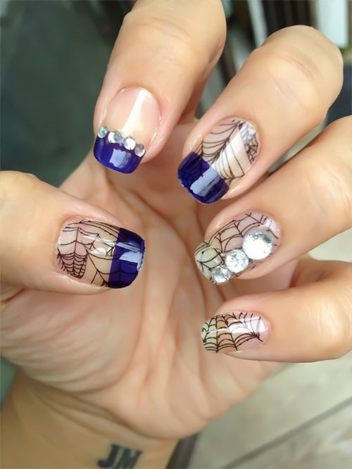 Scary halloween nail art designs ideas stickers 2013 2014 image source prinsesfo Gallery