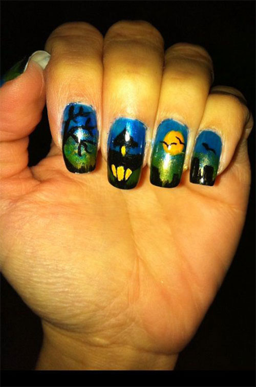 Cute & Easy Halloween Nail Art Designs, Ideas Stickers ...