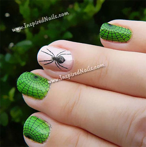 Black Spider & Spider Web Nail Decals - Simple & Easy Halloween Nail Art Designs, Ideas & Stickers Girlshue
