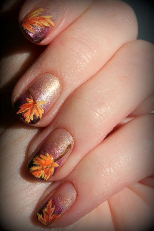 Autumn & Fall Inspired Nail Art Designs, Trends & Ideas For Girls ...