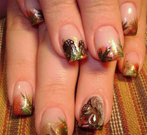 Latest Autumn Nail Art Designs Trends Fashion For Girls 2013 2014 G