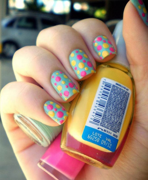 Stunning summer nail art designs ideas for girls 2013 girlshue colorful easy nail art designs for summers prinsesfo Image collections