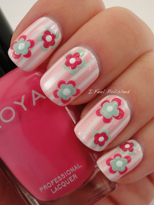 Simple & Easy Nail Art Designs & Ideas For Girls 2013 | Girlshue