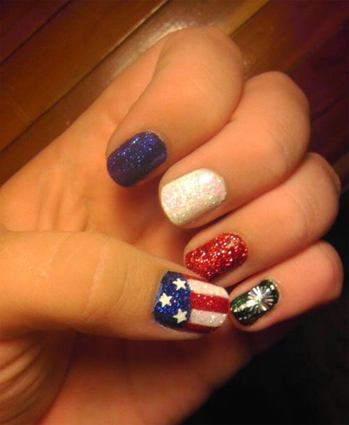 15 Awesome 4th Of July Nail Art Designs Ideas 2013 Girlshue