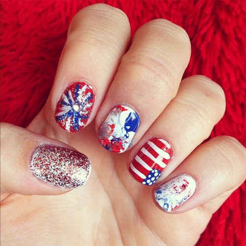 15 Amazing 4th Of July Nail Art Designs Ideas 2013 Girlshue